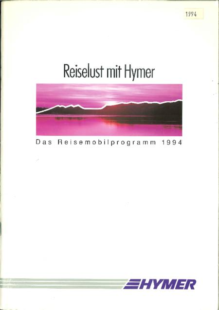 catalogus hymer 1994